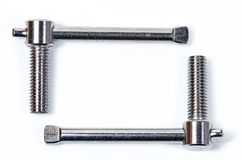 Stainless T Bolt. On white background Stock Image