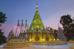 Stainless temple in Thailand Royalty Free Stock Photography