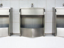 Stainless urinals Stock Image
