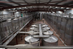 Stainless wine  tanks Stock Photo