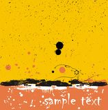 Stains background. Decorative background with stains - orange and yellow colour Royalty Free Stock Images