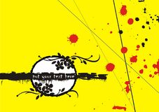 Stains background. Decorative floral background with stains - yellow, red and black Stock Photo