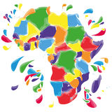 Stains and blots with Africa. Colored stains and blots with Africa vector illustration