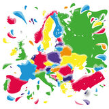 Stains and blots with Europe Stock Images