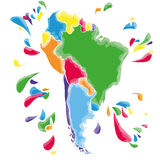 Stains and blots with South America Royalty Free Stock Photography