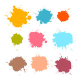 Stains, Blots, Splashes Set. Colorful Retro Vector Stains, Blots, Splashes Set Royalty Free Stock Photography