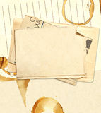 Stains of coffee on sheets of paper Royalty Free Stock Images