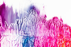 Stains of colorful nail polish on white background. Pink and purple smears with pattern, bright backdrop, free space. Art, creative, design, decorative Stock Photos
