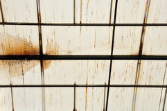 Stains on glasshouse roof Royalty Free Stock Photos