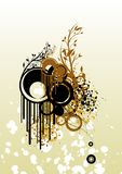 Stains and grains. Grunge background with various interesting elements vector illustration