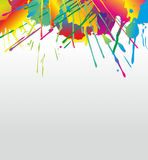 Stains. Illustration of a wall sprinkled with different colors Royalty Free Stock Images