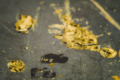 Stains of yellow and black paint Stock Image