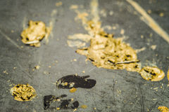 Stains of yellow and black paint Royalty Free Stock Images