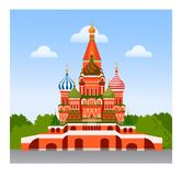 Staint Basil Cathedral illustration stock