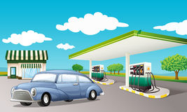 Staion de gaz Photos stock