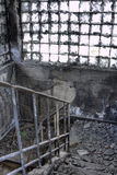Stair. It is burned Out building, stair Royalty Free Stock Image