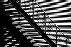 Stair. A b&w stair in nice light Stock Photography