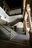 Stair. S, railings, inside an ancient building, the lower angle Royalty Free Stock Photos