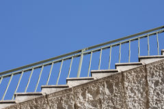 Stair. Abstract architecture detail sky stair Stock Photos
