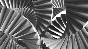 STAIR ABSTRACT ESCHER. Stairs abstract illusion Escher`s inspired background. Opitical illusion and confusing. Conceitual Image 3D Render vector illustration