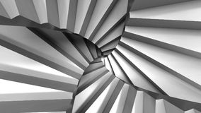 STAIR ABSTRACT ESCHER. Stairs abstract illusion Escher`s inspired background. Opitical illusion and confusing. Conceitual Image 3D Render stock illustration