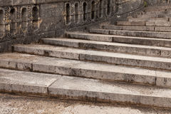 Stair. Antique stair in Chateau de Fontainebleau. The Palace of Fontainebleau, located 55 kilometres from the centre of Paris, is one of the largest French royal Stock Images