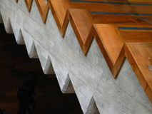 Stair case. Closeup of the side of a stair case royalty free stock image