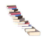 A stair case of books Stock Image