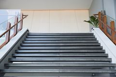 Stair case of the hotel. stock photo