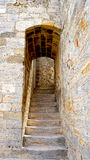 Stair in castle Stock Photo