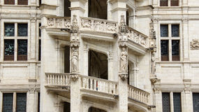 Stair of chateau de Blois Royalty Free Stock Image