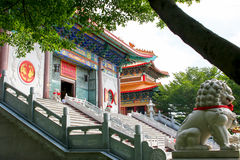Stair of Chinese temple Stock Photo