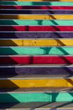 Stair with colorful steps Stock Images