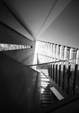 Stair in Complex Space, Black and White Royalty Free Stock Image