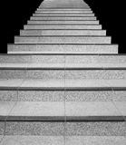 Stair concrete isolated on a black background Royalty Free Stock Images