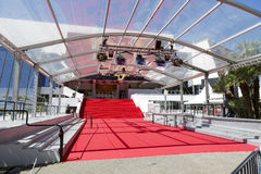 Stair covered with the red carpet, Cannes Royalty Free Stock Photos