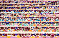 Stair decorative by ceramics. Colorful texture Stock Photography