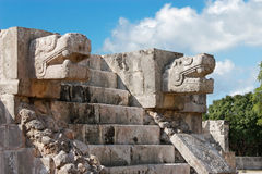 Stair detail, Chicen Itza Stock Photo