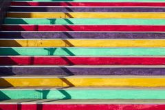 Stair with colorful steps Royalty Free Stock Photo