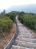 Stair down the rock. The path down to big wave bay Royalty Free Stock Images