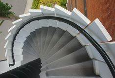 Going down the circular stair royalty free stock photos