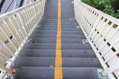 Stair flyover and split yellow line Stock Photos