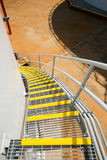 Stair grating of fuel oil storage tank Royalty Free Stock Photography