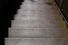 Stair from high-grade steel Stock Image