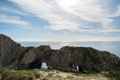 Stair Hole, Lulworth Cove on Dorset's Jurassic Coast Stock Photography