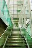 Stair In A Glass Building. Stock Image