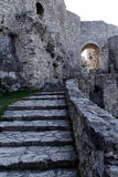 Stair inside medieval castle Spissky Hrad in Slovakia Stock Photos