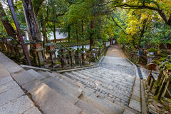 Stair at Kasuga Taisha shrine in Nara Stock Image