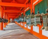 Stair at Kasuga Taisha shrine in Nara Royalty Free Stock Images