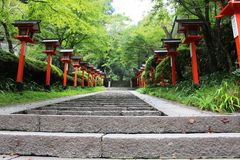 Stair in Kyoto. Kurama dera Stock Photography